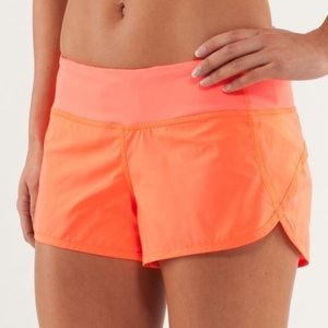 Lululemon Coral Speed Shorts